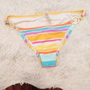 Victoria's Secret Tie Dye Stripe Bikini Bottoms